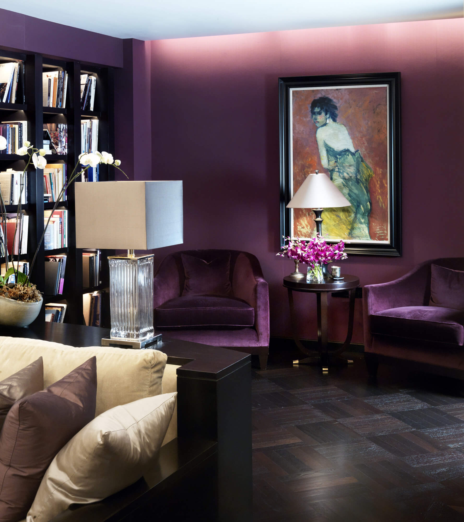 Luxury Living - A Purple living room interior