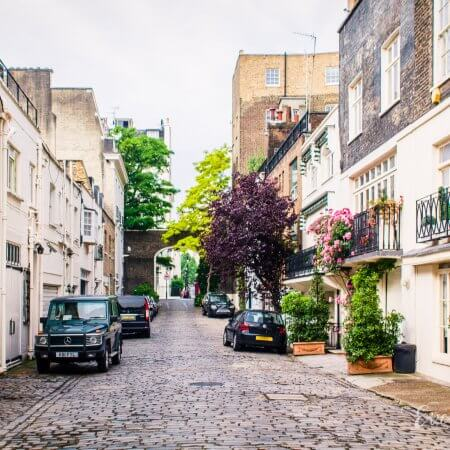 A charming cobbled mews