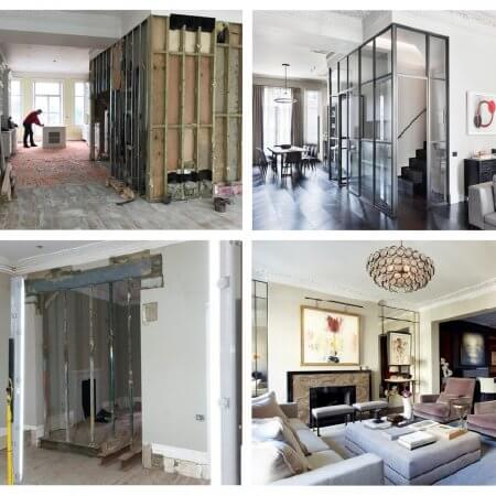 Development project before and after london